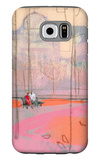 Couple on Park Bench Galaxy S6 Case