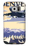 Denver, Colorado - Airport View Galaxy S6 Case by  Lantern Press