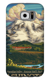 Paradise Inn, Mt. Rainier National Park, Washington Galaxy S6 Case by  Lantern Press