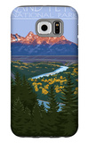 Grand Teton National Park - Snake River Overlook Galaxy S6 Case by  Lantern Press