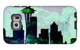 Seattle City Skyline Galaxy S6 Edge Case by  NaxArt
