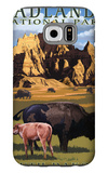 Badlands National Park, South Dakota - Bison Scene Galaxy S6 Case by  Lantern Press