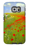 Field of Poppies Galaxy S6 Edge Case by Paul von Szinyei-Merse