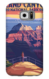 Grand Canyon National Park - Bright Angel Point Galaxy S6 Case by  Lantern Press