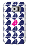 Navy Pink Regatta Galaxy S6 Case by  Avalisa