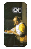 Woman in Yellow Galaxy S6 Edge Case by Jan Vermeer