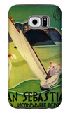 San Sebastian Vintage Poster - Europe Galaxy S6 Case by  Lantern Press
