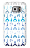 Blue Travel Architecture Galaxy S6 Case by  Avalisa