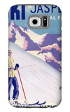 Jasper National Park, Canada - Woman Posing Open Slopes Poster Galaxy S6 Case by  Lantern Press