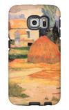 Farmhouses in Arles Galaxy S6 Edge Case by Paul Gauguin