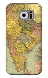 India - Panoramic Map Galaxy S6 Case by  Lantern Press