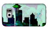 Seattle City Skyline Galaxy S6 Case by  NaxArt