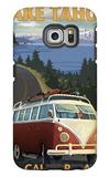 Lake Tahoe, California - VW Coastal Drive Galaxy S6 Edge Case by  Lantern Press