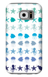 Blue Under the Sea Galaxy S6 Case by  Avalisa