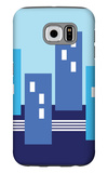 Blue Buildings Galaxy S6 Case by  Avalisa