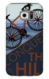 Conquer the Hill - Mountain Bike Galaxy S6 Case by  Lantern Press