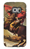 Napoleon Crossing the Alps Galaxy S6 Edge Case by Jacques-Louis David