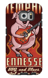 Memphis, Tennessee - Guitar Pig Galaxy S6 Edge Case by  Lantern Press