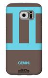 Gemini Zodiac Sign Blue Galaxy S6 Case by  NaxArt