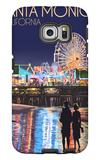 Santa Monica, California - Pier at Night Galaxy S6 Edge Case by  Lantern Press