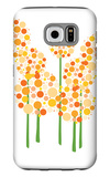 Orange Alliums Galaxy S6 Case by  Avalisa