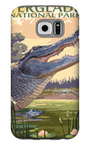 The Everglades National Park, Florida - Alligator Scene Galaxy S6 Case by  Lantern Press