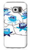 Blue Flowering Tree Galaxy S6 Case by  Avalisa