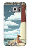 Barnegat Lighthouse - New Jersey Shore Galaxy S6 Case by  Lantern Press