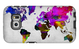 World Watercolor Map 13 Galaxy S6 Edge Case by  NaxArt