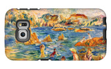 At the Beach of Guernesey Galaxy S6 Edge Case by Alfred Sisley