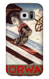 Norway - The Home of Skiing Galaxy S6 Case by  Lantern Press