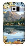 Long's Peak and Bear Lake - Rocky Mountain National Park Galaxy S6 Case by  Lantern Press