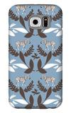 Blue Zebra Wilderness Galaxy S6 Case by  Avalisa