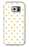 Yellow Polk-a-dots Galaxy S6 Case by  Avalisa