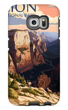Zion National Park - Zion Canyon Sunset Galaxy S6 Edge Case by  Lantern Press