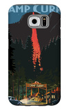 Firefall and Camp Curry - Yosemite National Park, California Galaxy S6 Case by  Lantern Press