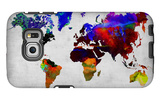 World Watercolor Map 12 Galaxy S6 Edge Case by  NaxArt