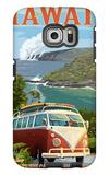 VW Van - Hawaii Volcanoes National Park Galaxy S6 Edge Case by  Lantern Press