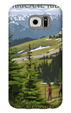 Hurricane Ridge, Olympic National Park, Washington Galaxy S6 Case by  Lantern Press