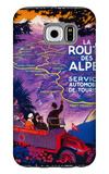 La Route Des Alpes Vintage Poster - Europe Galaxy S6 Case by  Lantern Press