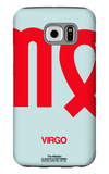 Virgo Zodiac Sign Red Galaxy S6 Case by  NaxArt