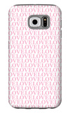 Pink Love Love Love Galaxy S6 Case by  Avalisa