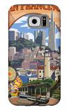San Francisco, California Scenes Galaxy S6 Case by  Lantern Press