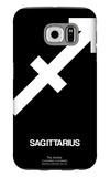 Sagittarius Zodiac Sign White Galaxy S6 Case by  NaxArt