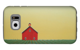 Barn Yellow Sky Galaxy S6 Case by Sharon France