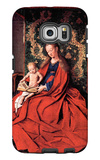 Madonna and Child Reading Galaxy S6 Edge Case by Jan Van Eyck