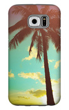 Retro Styled Hawaiian Palm Tree Galaxy S6 Case by Mr Doomits