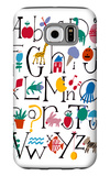 Cute Alphabet with Illustrations Galaxy S6 Case