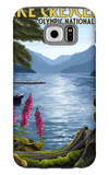 Olympic National Park, Washington - Lake Crescent Galaxy S6 Case by  Lantern Press