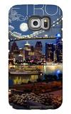 Detroit, Michigan - Skyline at Night Galaxy S6 Edge Case by  Lantern Press